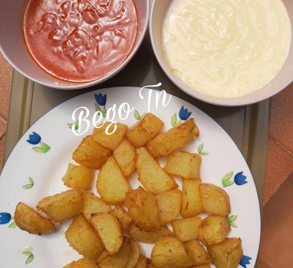 Patatas bravas en tempura con Thermomix®