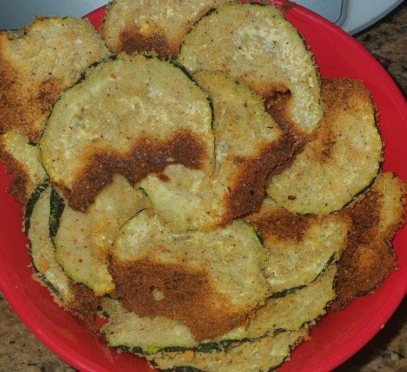 Chips de calabacín al parmesano con Thermomix® ; Sevilla (Dos Hermanas)