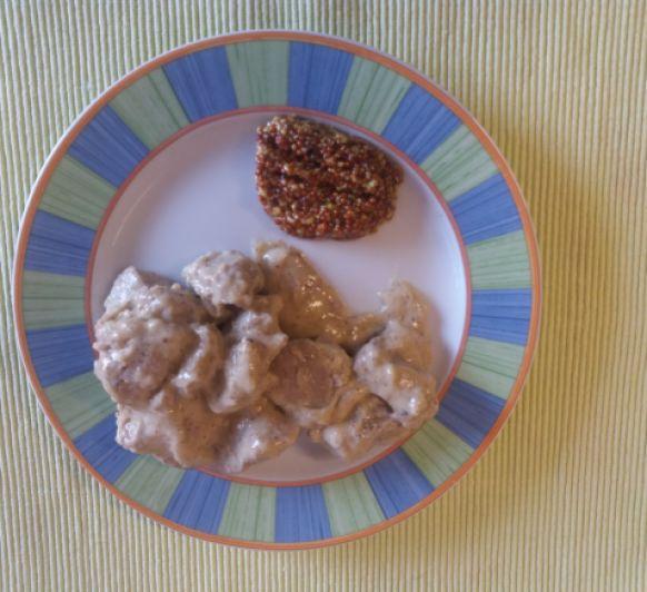 Tacos de solomillo a la mostaza