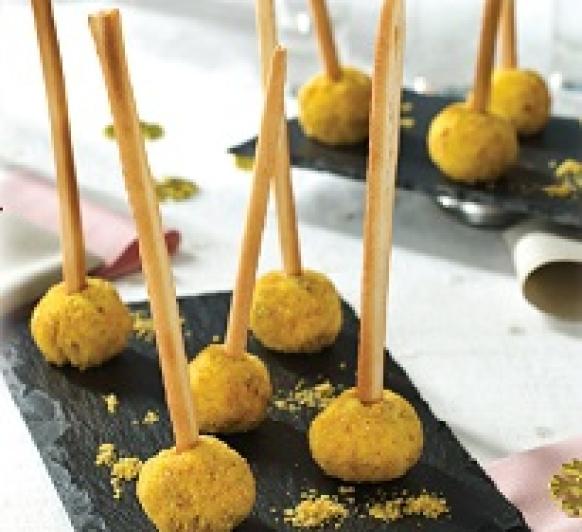 Aperitivos de queso con arándanos y jamón en Thermomix®