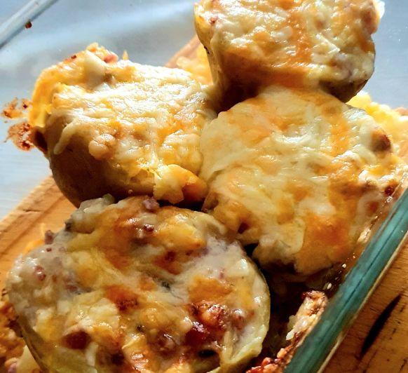 Patatas rellenas de jamón y gambas con Thermomix® , Sevilla, Dos Hermanas