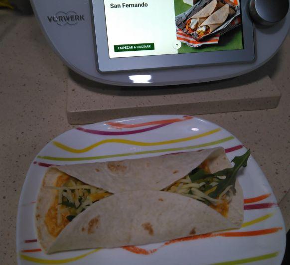 Burritos con pollo San Fernando en Thermomix®